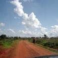 未舗装の国道