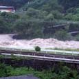 増水した大谷川