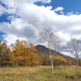 戦場ヶ原の紅葉と男体山
