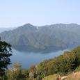 男体山登山道から見た中禅寺湖