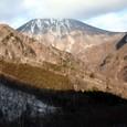 日光ケーブルカー跡と男体山