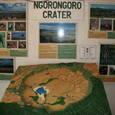 ンゴロンゴロクレーターの模型