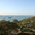 国立博物館から眺めた海